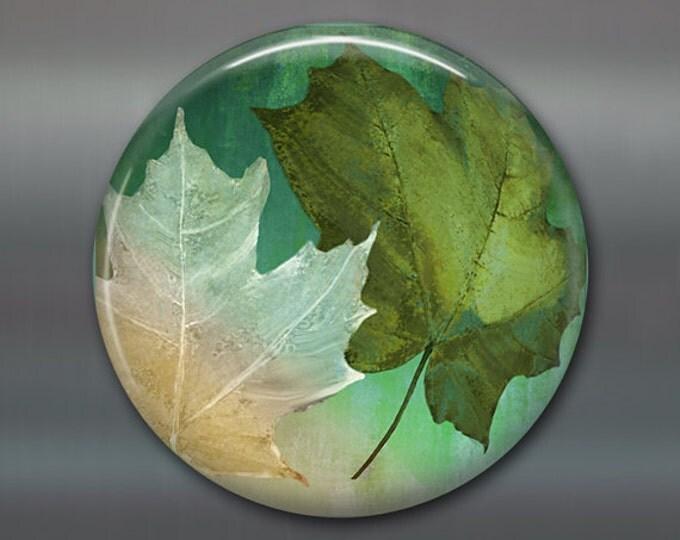 """3.5"""" colourful leaves magnet autumn decor, fridge magnet, fall leaves decor, purple decor, kitchen decor housewarming gift MA-359"""