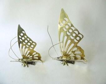 Vintage Brass butterflies, Butterfly, set