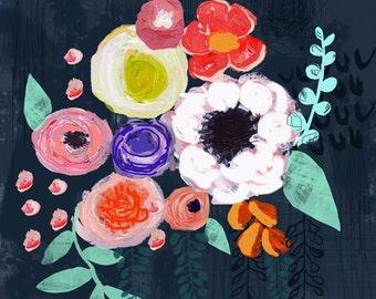Blooms 12 x 12 Art Print*