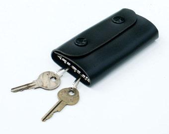 Allison Leather Key Ring Case