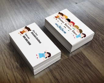 Double side Daycare Business Card