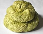 Peeling a golden kiwi OOAK - Tussah Silk Lace Yarn