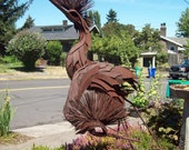 Dancing Cranes ~ Stunning Metal Sculpture by African Armerican Portland, OR artist Carlton Bell ~ signed and dated 1976