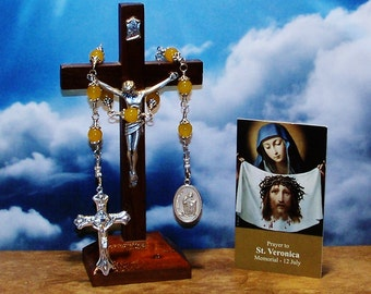 Unbreakable Catholic Chaplet of St. Veronica - Patron Saint of Photographers and Laundry Workers / Dry Cleaners