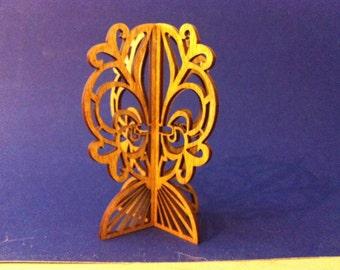 3D Standing Fleur de Lis Ornament