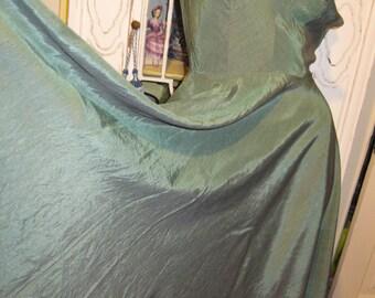1950's Vintage Moss Green silk Dress womens small