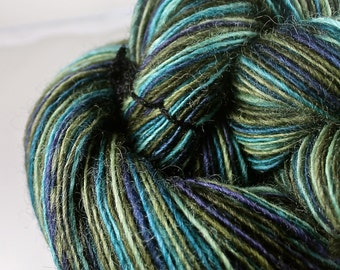 Handspun Yarn Gently Thick and Thin DK Single Romney 'The Bird Girl'