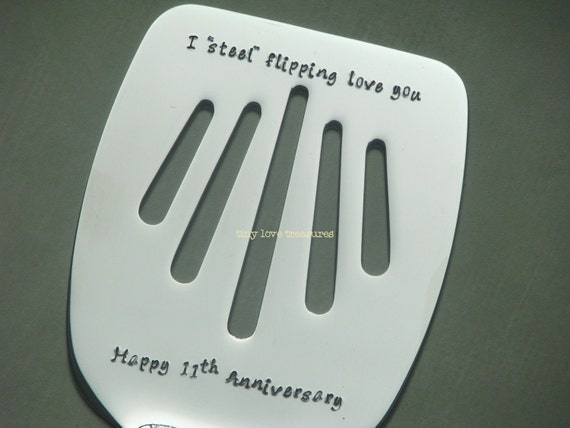 Gift Ideas For 14th Wedding Anniversary: I Steel Flipping Love You 11th Anniversary Personalized