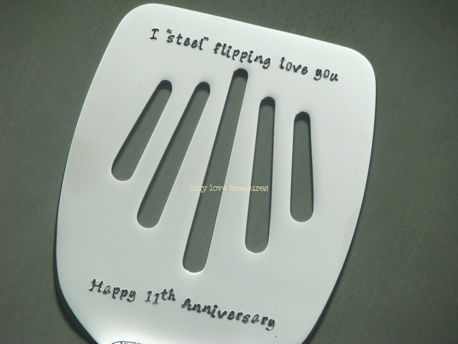 I Steel Flipping Love You 11th Anniversary Personalized