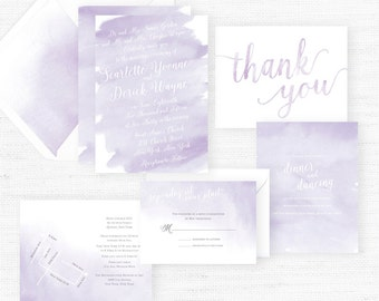 The Scarlett Collection | Sample Wedding Invitation | Hand-Painted Watercolor Wedding Invitations