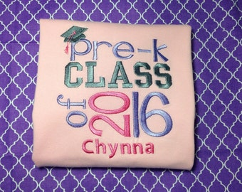 Kindergarten or Preschool Graduation Shirt...Any Colors Can be Used