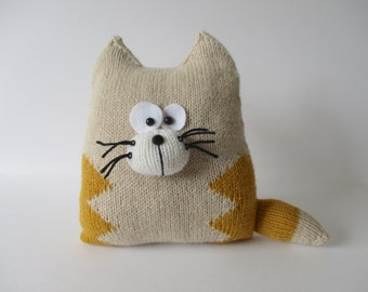 Cat Cushion Knitting Patterns