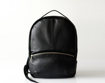 Soft Pebbled Leather Backpack OPELLE Kanye leather backpack