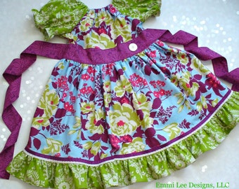Girls Fall Dress,Special Occasion,Little Girl Dress,Toddler Dress,Peasant Dress,Girls Twirl Dress,Sizes 12MO,18MO,2T,3T,4T,5T,6,7,8