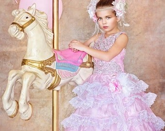 "Manhattan Dawn""...The Perfect Flower Girl Gown. Available in your color scheme"