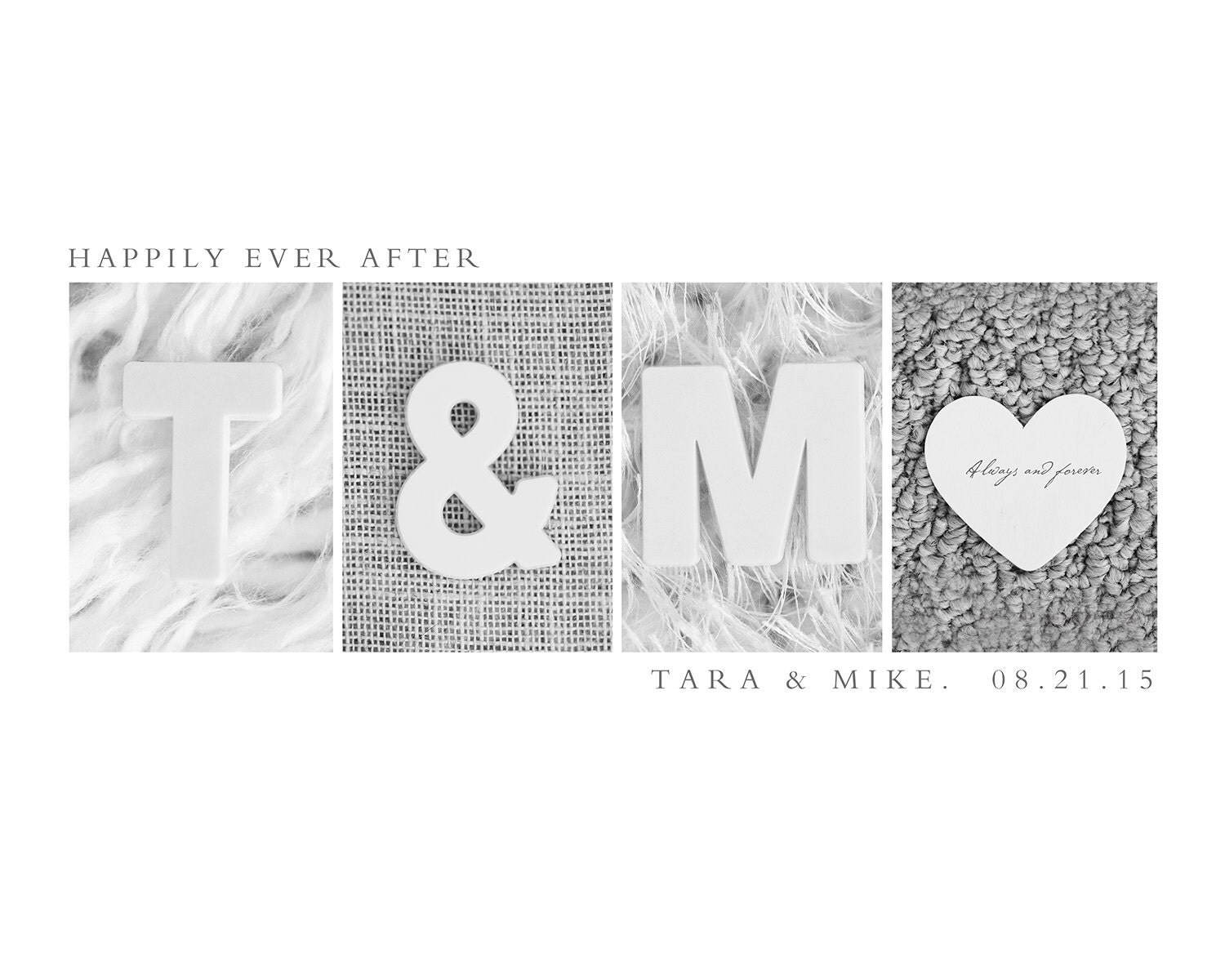 Wedding Gift Alphabet Art : Custom Wedding Gift Alphabet Letters Photography