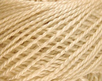 Size 12, 6, Valdani Perle Cotton, Natural, Embroidery Thread, Punch Needle, Embroidery, Penny Rugs, Sewing Accessory