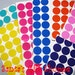 24 1 inch Vinyl Sticker Dots - You PICK from Assorted Colors - Graduation Parties - Bachelorette Parties - Birthday Parties - Scrapbooking
