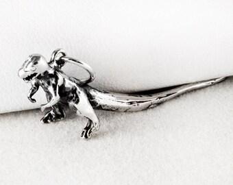 T-Rex Sterling Silver Charm