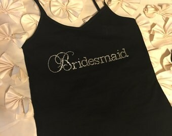 BRIDESMAID BLING Tank Top