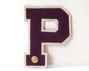 Vintage Varsity Letter with Basketball Pin