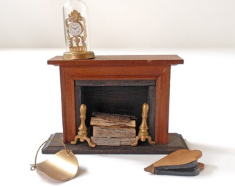 Vintage Dollhouse Fireplace and More by Shackman
