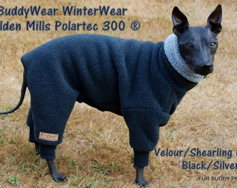 Malden Mills Polartec 300 WinterWear fleece for Italian Greyhounds, Hairless, and all small dogs.