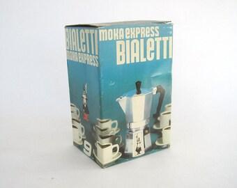 MOKA EXPRESS Bialetti 9 MINT in Box 1970s