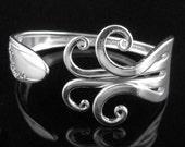 Fork Bracelet, Eco-Friendly Silverware Jewelry in Fancy Design Number Six