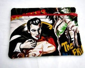 Retro Inspired Movie Monster Fabric Zippered Coin Purse Pouch Fully Lined
