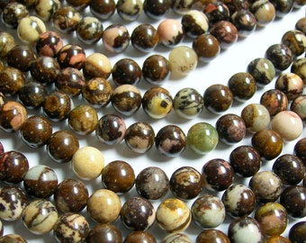 Outback jasper - 7.5mm - 7.8mm round - A quality - 53 beads per strand  - RFG414