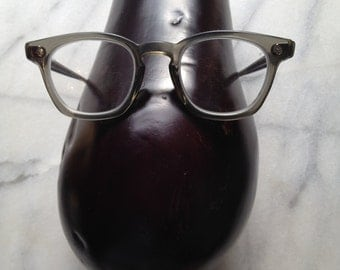 60s American Optical Eyeglass in Translucent Gray