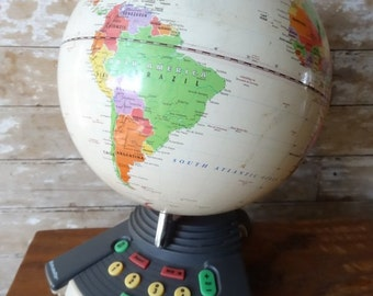 Vintage World Globe Geo Safari World Globe Quiz Game 1980's