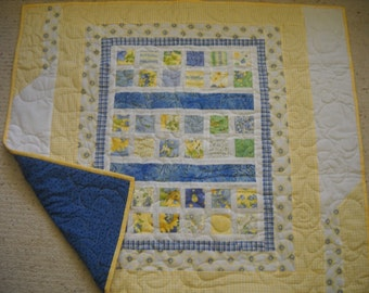 Sunny Yellow Baby Quilt