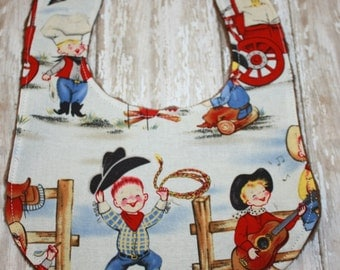 Baby Boy Bib- Western Baby Bib- Cowboy Baby Bib- Baby Bibs- Handmade Baby Bib- Boy Baby Bib- Bibs- Personalized Baby Bib