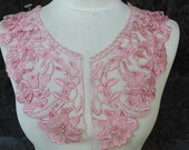 Cute embroidered and beaded  organza flower   applique