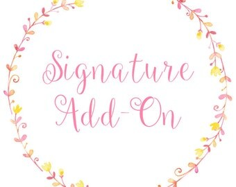 Blog Design Signature Add-On