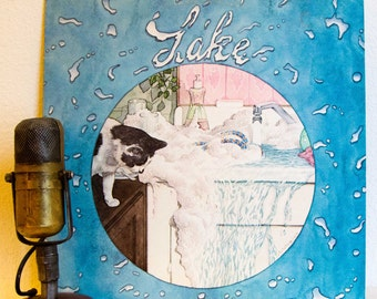 "Lake (w/James Hopkins-Harrison) Vinyl Record Album LP 1970s German Rock and Roll Pop Light Rock Debut Album ""Lake"" (1977 Cbs w/""Time Bomb"")"