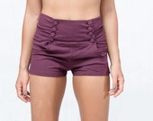 button front  hight waisted shorts