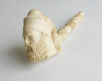 Hand Carved Meerschaum Estate Pipe