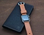 Baseball Glove TAN Leather Watch Strap for Apple Watch (FREE PERSONALIZATION)