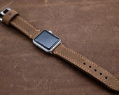 Rustic Distressed Leather Watch Strap for Apple Watch (personalization available)