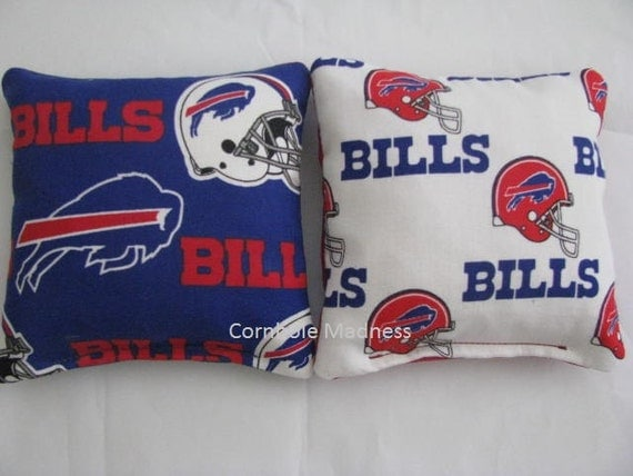 BUFFALO BILLS NFL Cornhole Bags Corn hole Corn Toss Baggo Set of 8