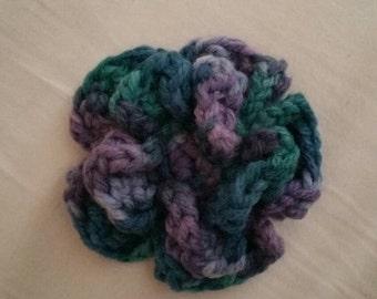 Crocheted Flower Pin/Brooch