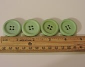 Shabby Green Buttons 4 Hole Set of 4