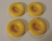 Sunflower Yellow Buttons Set of 4