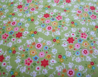 Green Bloom Wreath Fabric by the yard Nadra Ridgeway for Riley Blake Designs