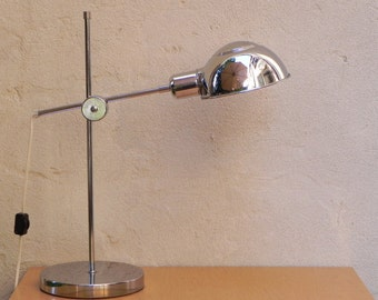Chrome Adjustable Industrial Chic Desk Lamp with 2-Way Dimmer