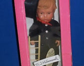 """Vintage 12"""" M J Hummel DOLL Chimney Sweep with Ladder Brush Tag nrfb Costume Outfit with Top Hat"""