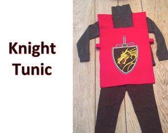 Knight Tunic with Coat of Arms- Your choice of colors  and size